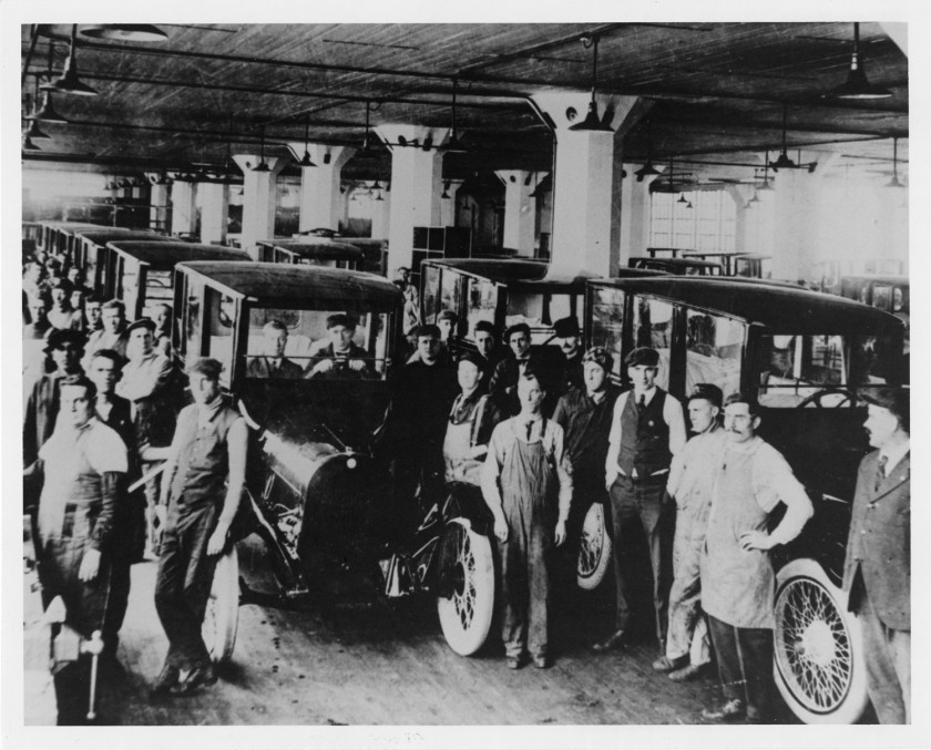 workers in auto plant